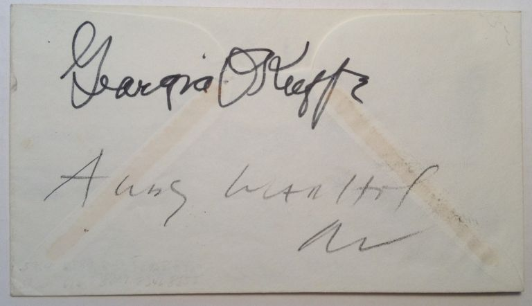 Signed 1st Day Cover. Georgia O'KEEFFE, Andy WARHOL.