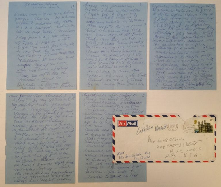 8-page Autographed Letter Signed. Cathleen NESBIT, 1888 - 1982.