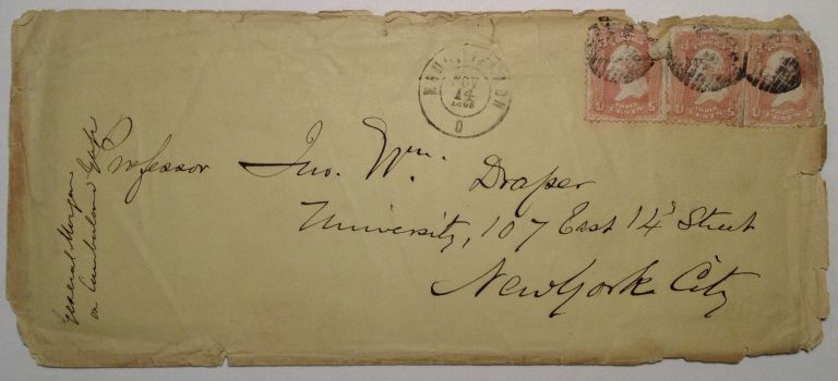 Envelope Addressed in his Hand to a Distinguished Professor. George W. MORGAN, 1820 - 1893.
