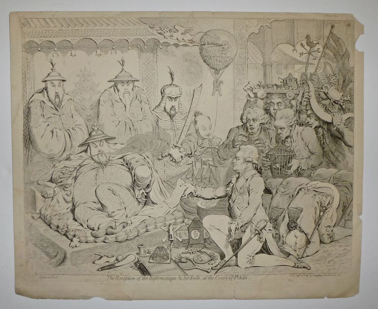 The Reception of the Diplomatique & his Suite, at the Court of Pekin. James GILLRAY.