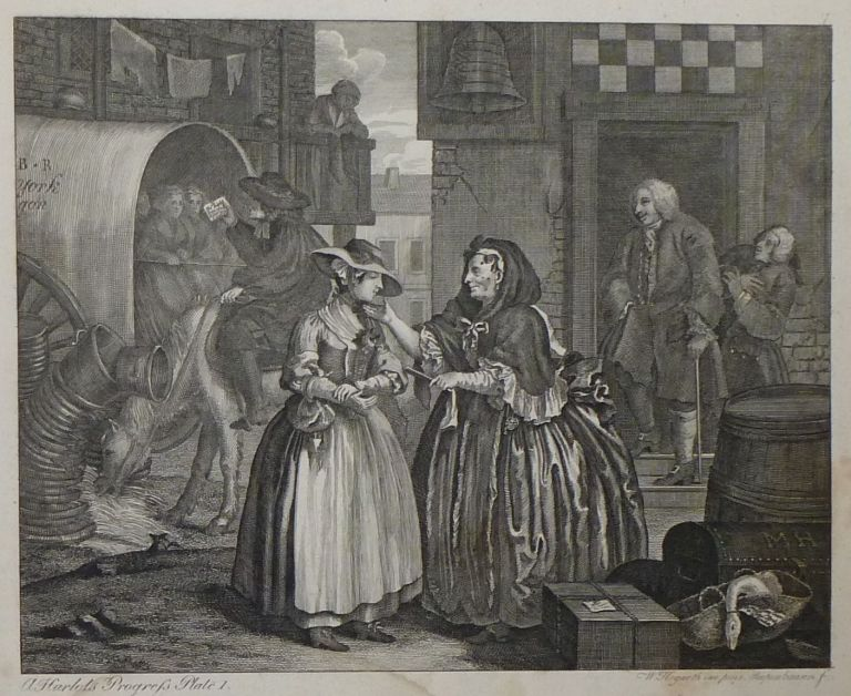 A Harlot's Progress. Ernst Ludwig RIEPENHAUSEN, William after HOGARTH.