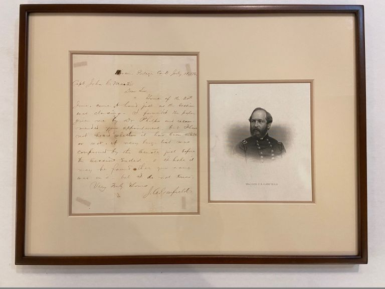 Autographed Letter Signed as Congressman. James A. GARFIELD, 1831 - 1881.