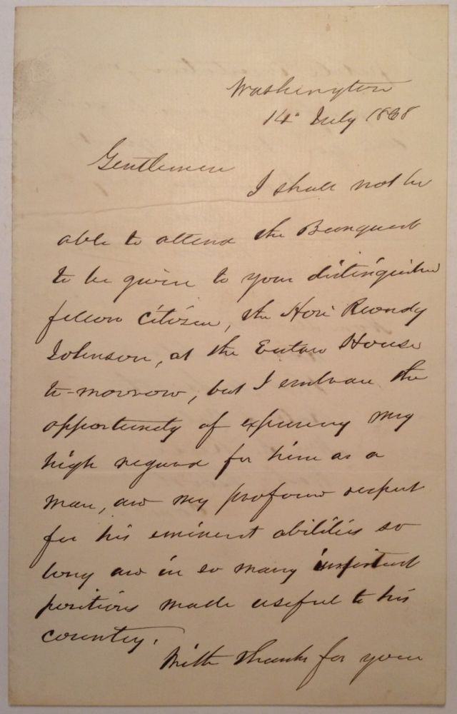 Autographed Letter Signed. Gideon WELLES, 1802 - 1878.