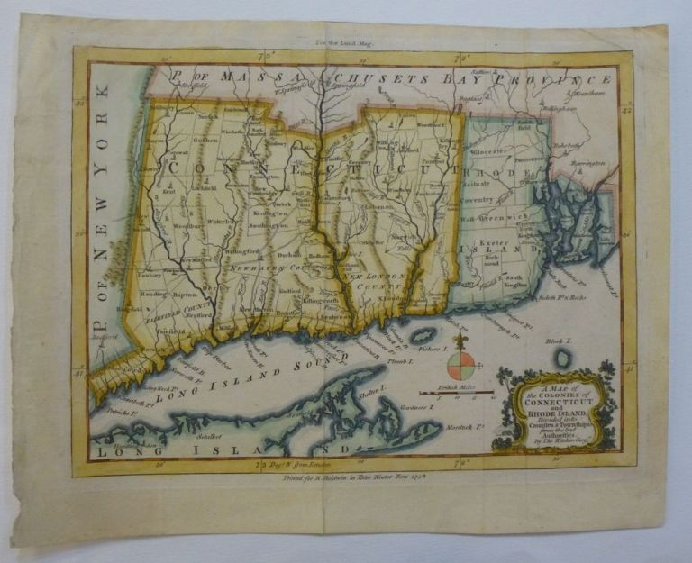 A Map of the Colonies of Connecticut and Rhode Island Divided into Counties & Townships. Thomas KITCHIN.