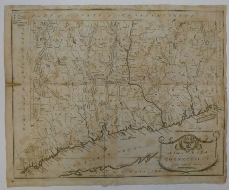 A Correct Map of Connecticut from actual survey. Amos DOOLITTLE.
