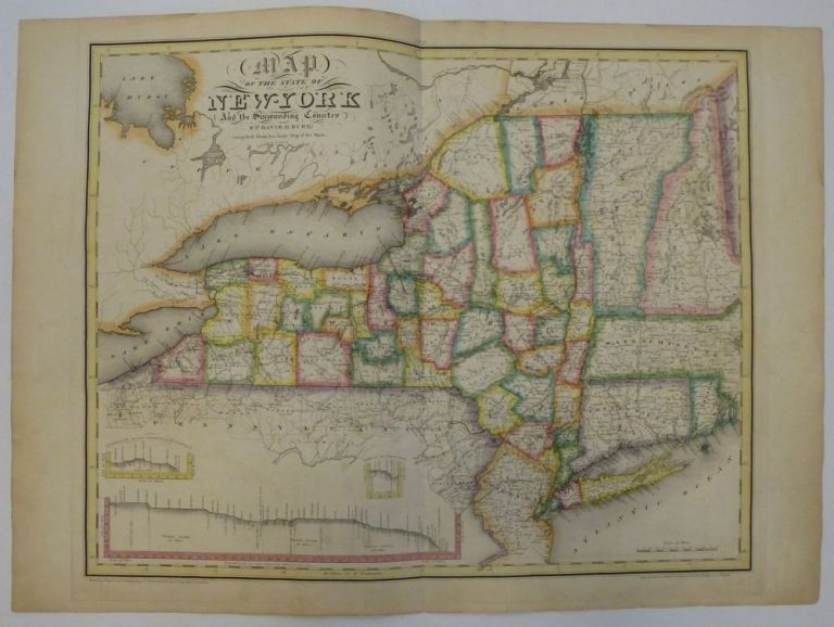 Map of the State of New-York And the Surrounding Country. David H. BURR.