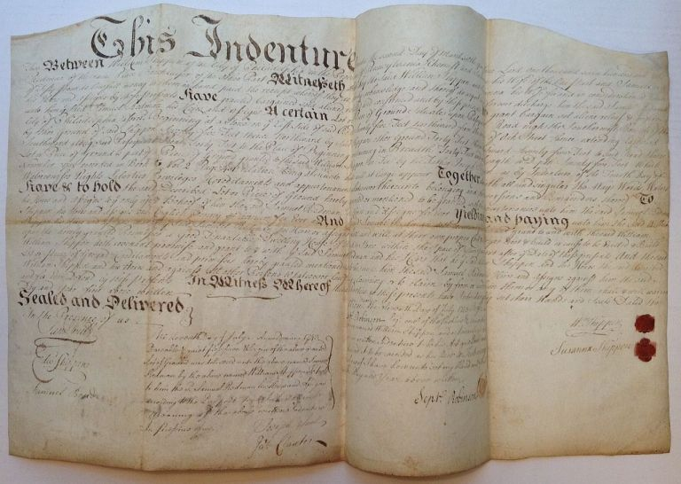 18th-Century Document Authorizing a Sale of Land. SHIPPEN FAMILY OF PENNSYLVANIA.