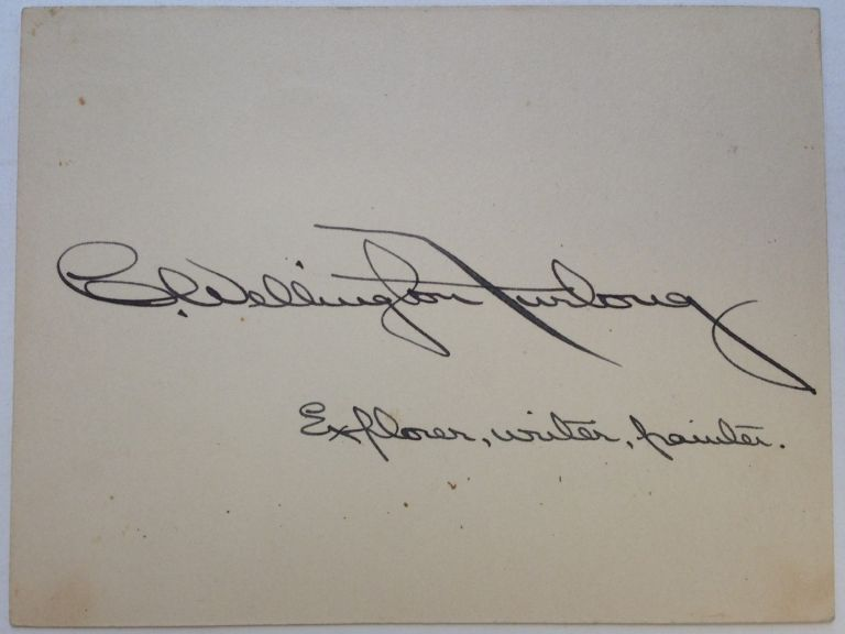 Signed Card. Charles Wellington FURLONG, 1874 - 1967.