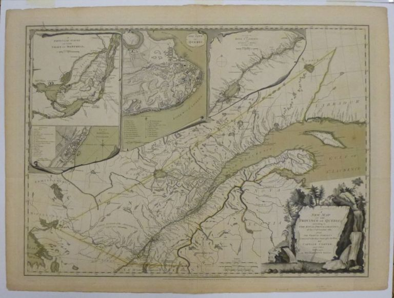 A New Map of the Province Of Quebec, according According to the Royal Proclamation, of the 7th of October, 1763, from the French Surveys Connected with those Made after the War by Captain Carver, and others in His Majesty's Service. Jonathan CARVER.