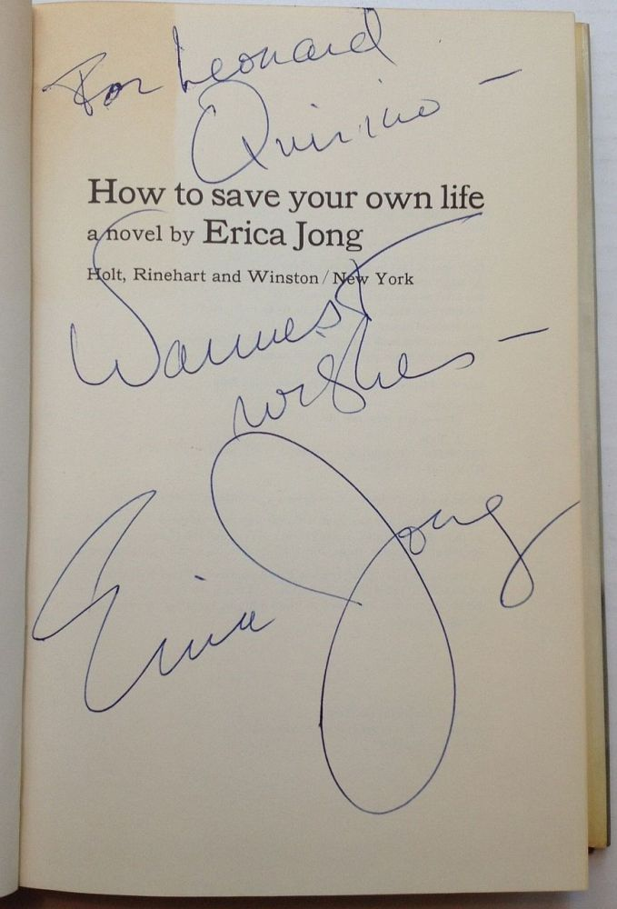How to Save Your Own Life. Erica JONG.