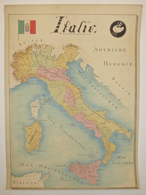 Italie. ANONYMOUS, Manuscript map.