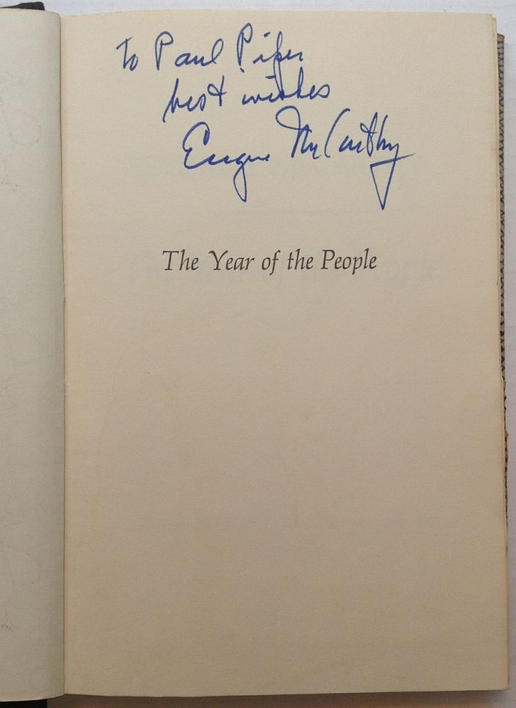 The Year of the People. Eugene J. McCARTHY.