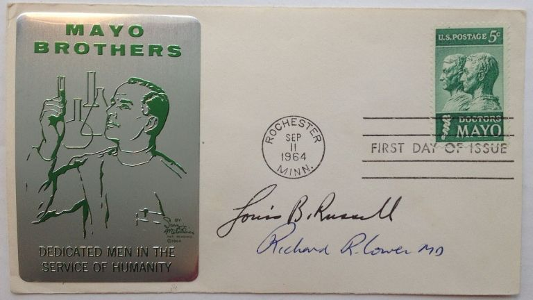 Signed First Day Cover. Richard R. LOWER, 1930 - 2008.