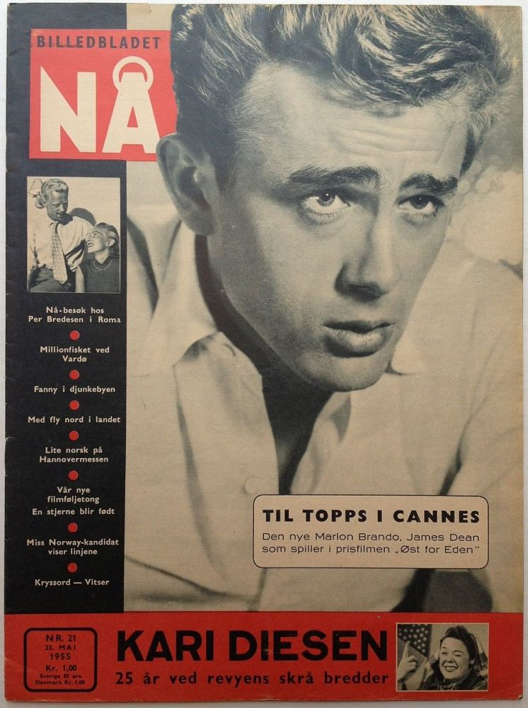 Vintage Norwegian Magazine with Dean's photo on the cover. James DEAN, 1931 - 1955.