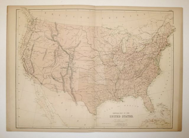 General Map of the United States. Adam and Charles BLACK.