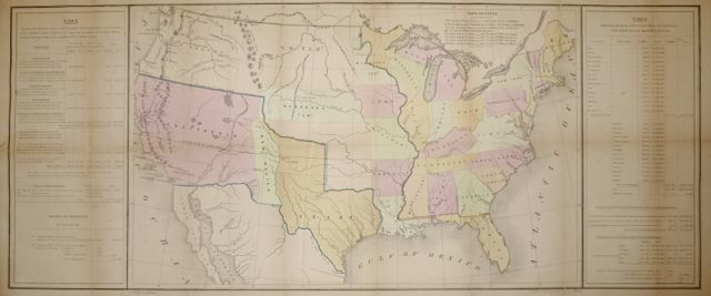 [Map of the United States showing boundaries after the Treaty of Guadalupe Hidalgo]. U. S. GENERAL LAND OFFICE.