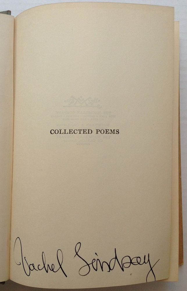 Collected Poems. Vachel LINDSAY.