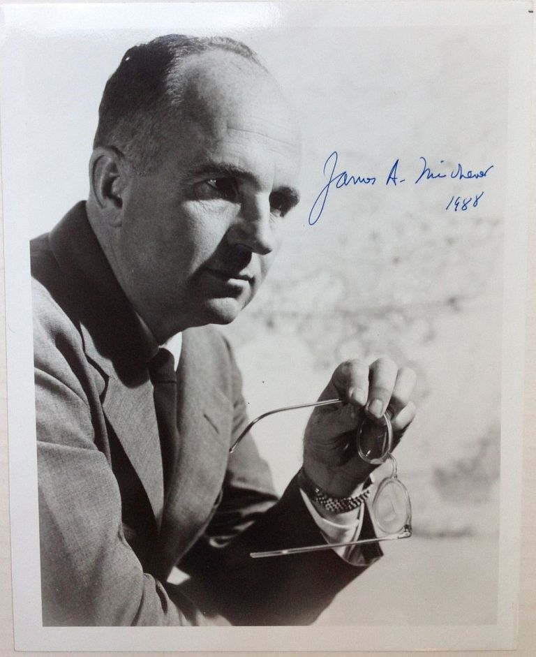 Signed Photograph. James A. MICHENER, 1907 - 1997.