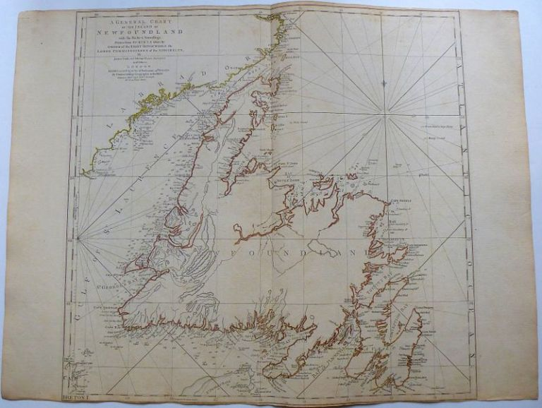 A General Chart of the Island of New Foundland with the Rocks and Soundings. Thomas JEFFERYS.