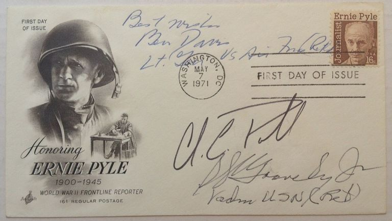 Signed First Day Cover. AFRICAN-AMERICAN MILITARY LEADERS.