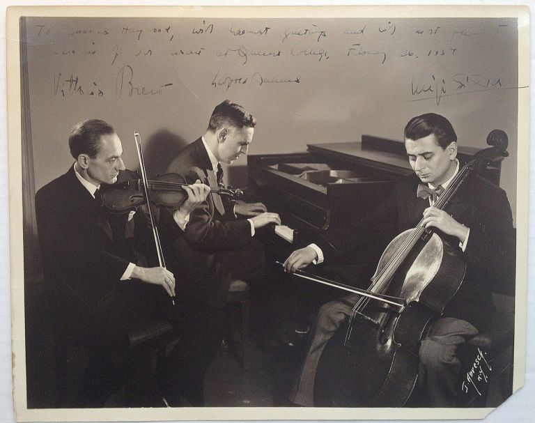 Inscribed Photograph. MANNES TRIO.