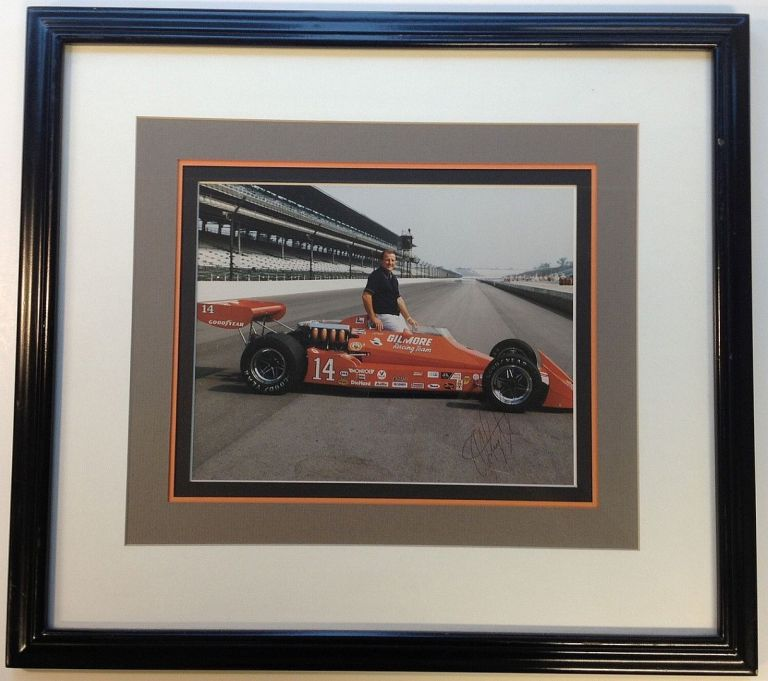 Framed Signed Photograph. A. J. FOYT, 1935 -.