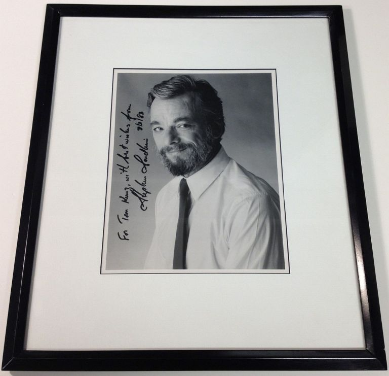 Framed Inscribed Photograph. Stephen SONDHEIM, 1930 -.