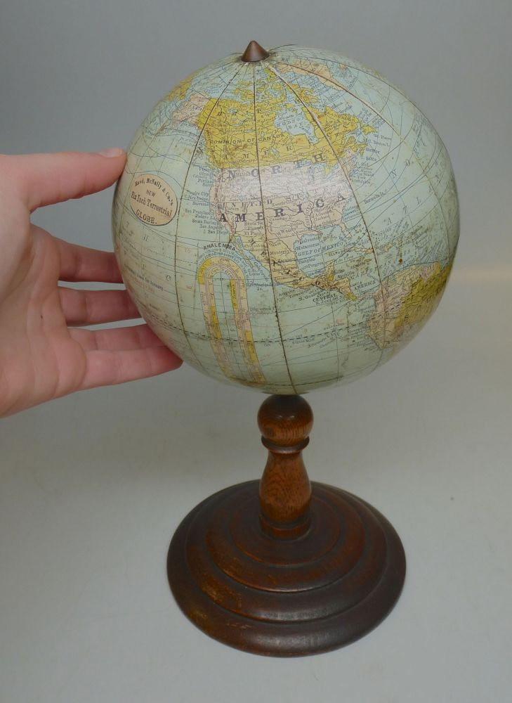 New Six Inch Terrestrial Globe. RAND MCNALLY, CO.