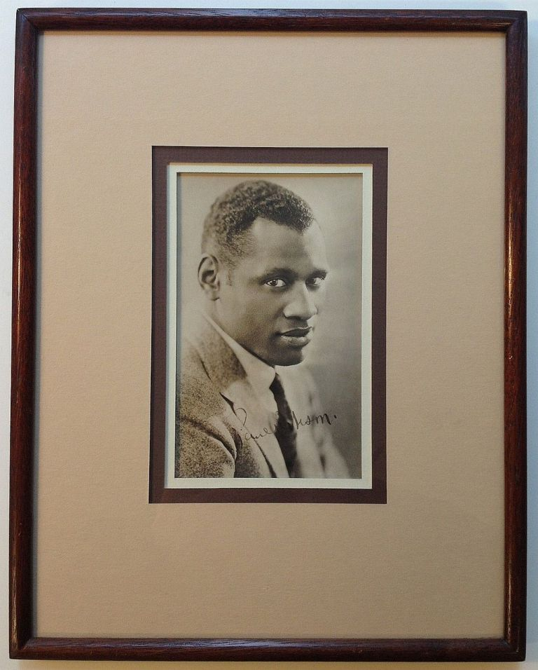 Framed Signed Photograph. Paul ROBESON, 1898 - 1976.