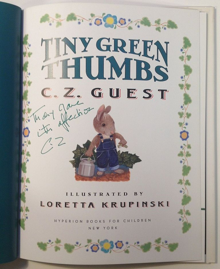 Tiny Green Thumbs. C. Z. GUEST.