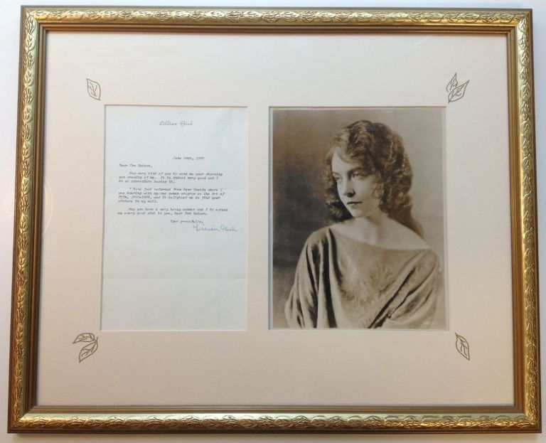 Framed Typed Letter Signed on personal stationery. Lillian GISH, 1893 - 1993.