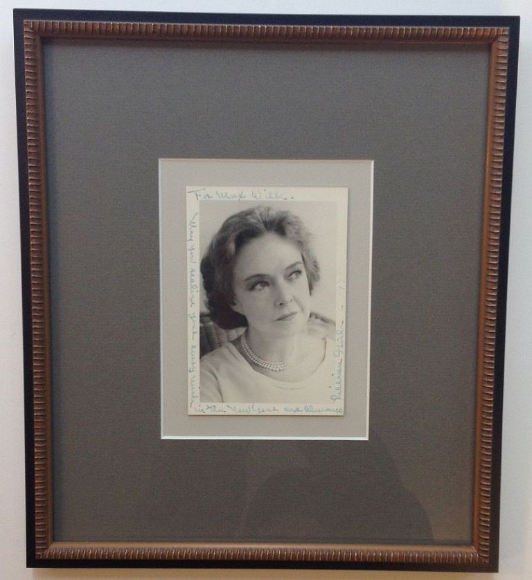 Framed Photograph Inscribed to playwright Max Wilk. Lillian GISH, 1893 - 1993.