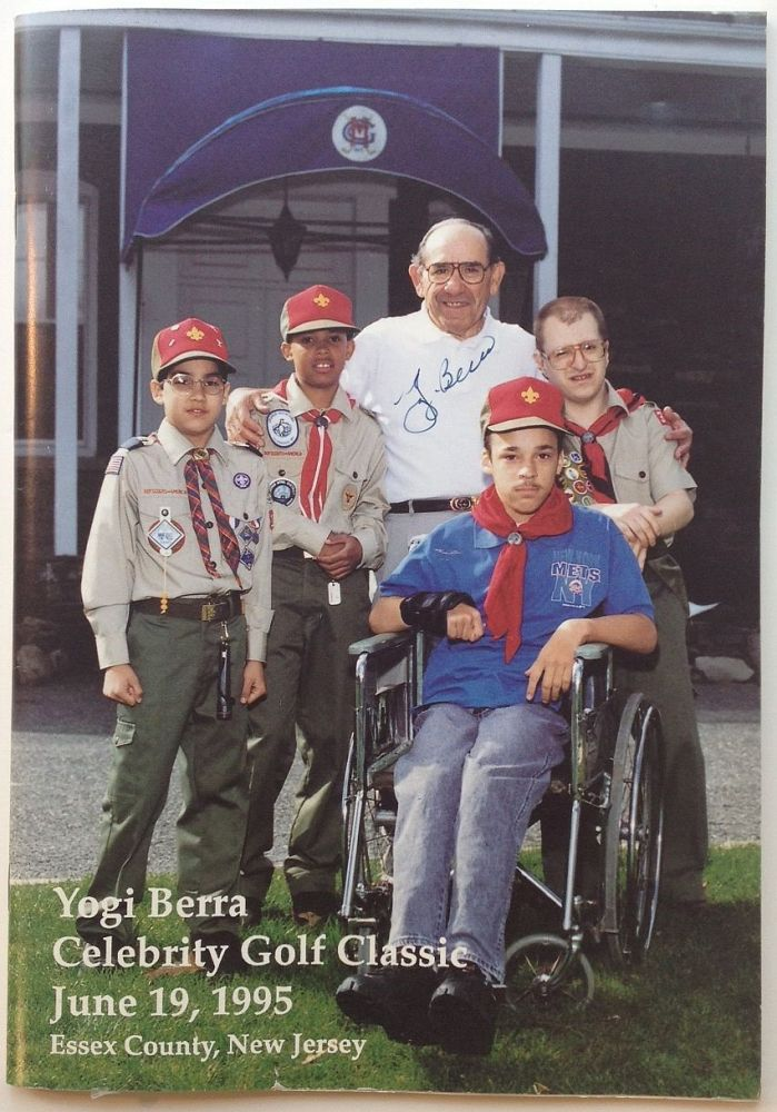 Signed program from the Yogi Berra Celebrity Golf Classic -- June 19, 1995. Yogi BERRA.