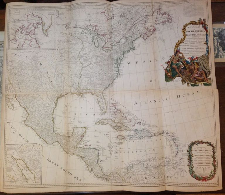 A New Map of North America with the West India Islands. Divided according to the Preliminary Articles of Peace, Signed at Versailles, 20 Jan. 1783, wherein are particularly Distinguished the United States, and the Several Provinces, Governments &ca which Compose the British Dominions. Emanuel BOWEN, John, GIBSON, Governor POWNALL.