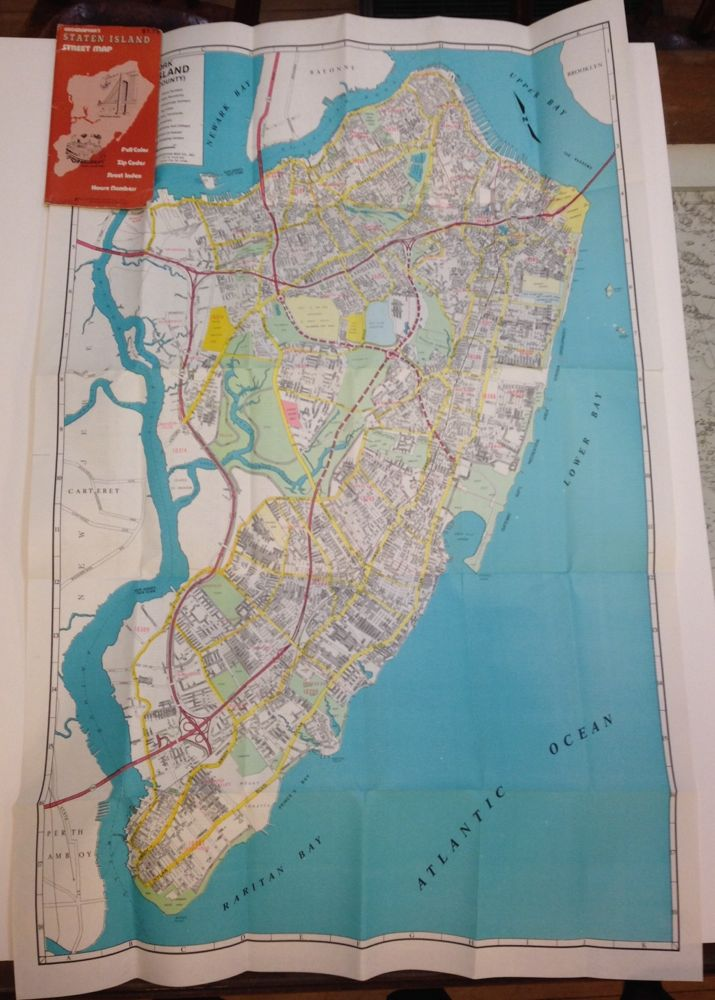 New York Staten Island (Richmond County). INC GEOGRAPHIA MAP CO.
