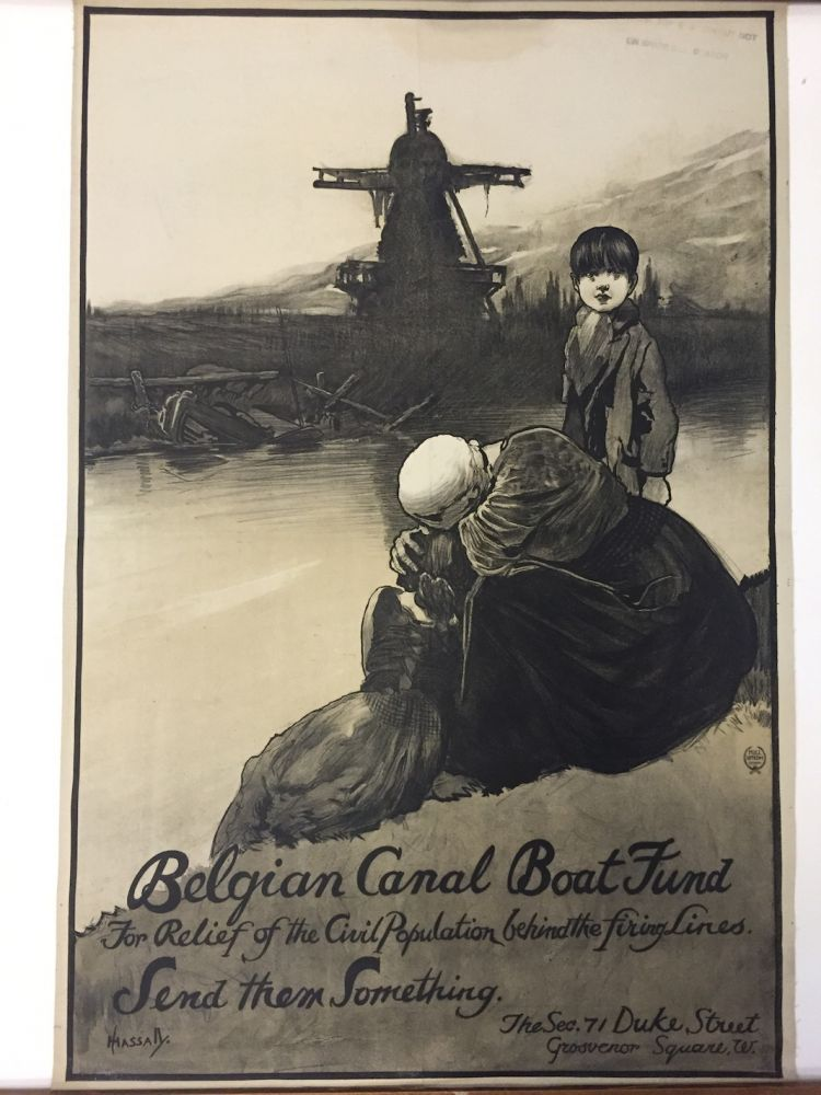 Belgian Canal Boat Fund for Relief of the Civil Population Behind the Firing Lines. John HASSALL.