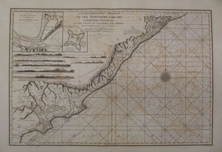 A Geohydrographic Draught of the Northern Circars or Maritime Provinces on the Coasts of Golconda and Orissa from all the Original Surveys extant of those Parts. LAURIE, WHITTLE.