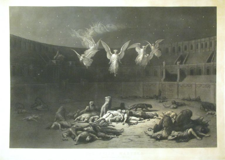 Christian Martyrs; Reign of Diocletian Rome A.D. 303. GUSTAV P. DORE.