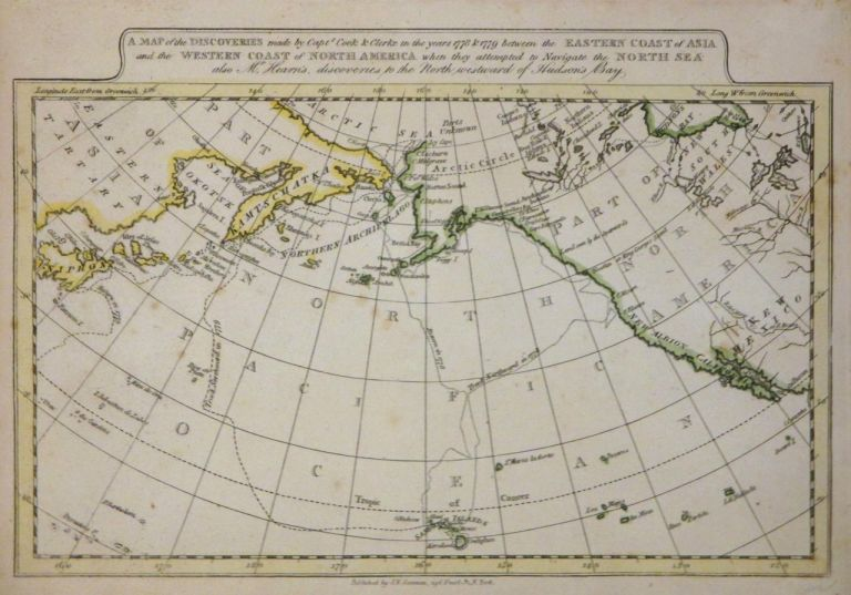 A Map of the Discoveries made by Capts. Cook & Clerke in the years 1778 & 1779 between the Eastern Coast of Asia and the Western Coast of North America when they attempted to Navigate the North Sea also Mr. Hearn's, discoveries to the North westward of Hudson's Bay. J. V. SEAMAN.