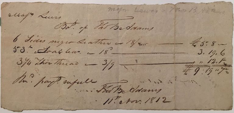 Autographed Document Signed twice. Thomas Boylston ADAMS, 1772 - 1832.