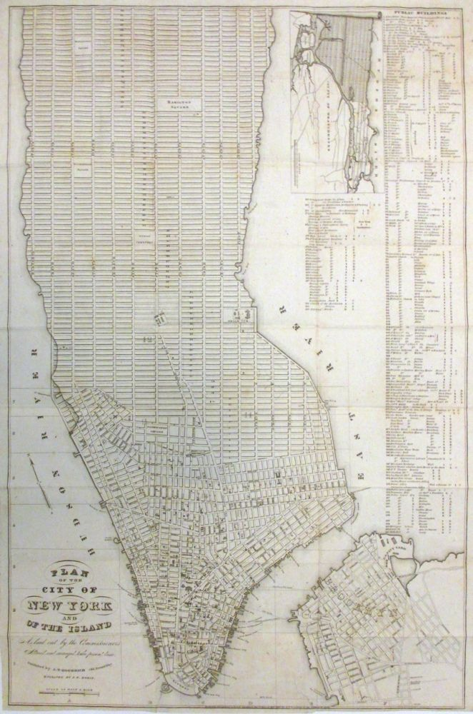 Plan of the City of New York and of the Island As laid out by the Commissioners Altered and arranged to the present time. A. T. GOODRICH.