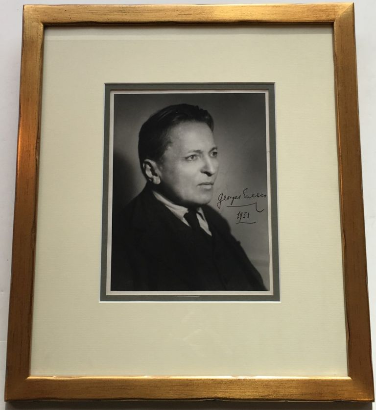 Framed Signed Photograph. Georges ENESCO, 1881 - 1955.