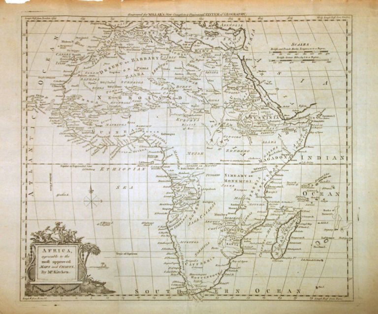 Africa, agreeable to the most approved Maps and Charts, By Mr. Kitchen. Thomas KITCHIN.