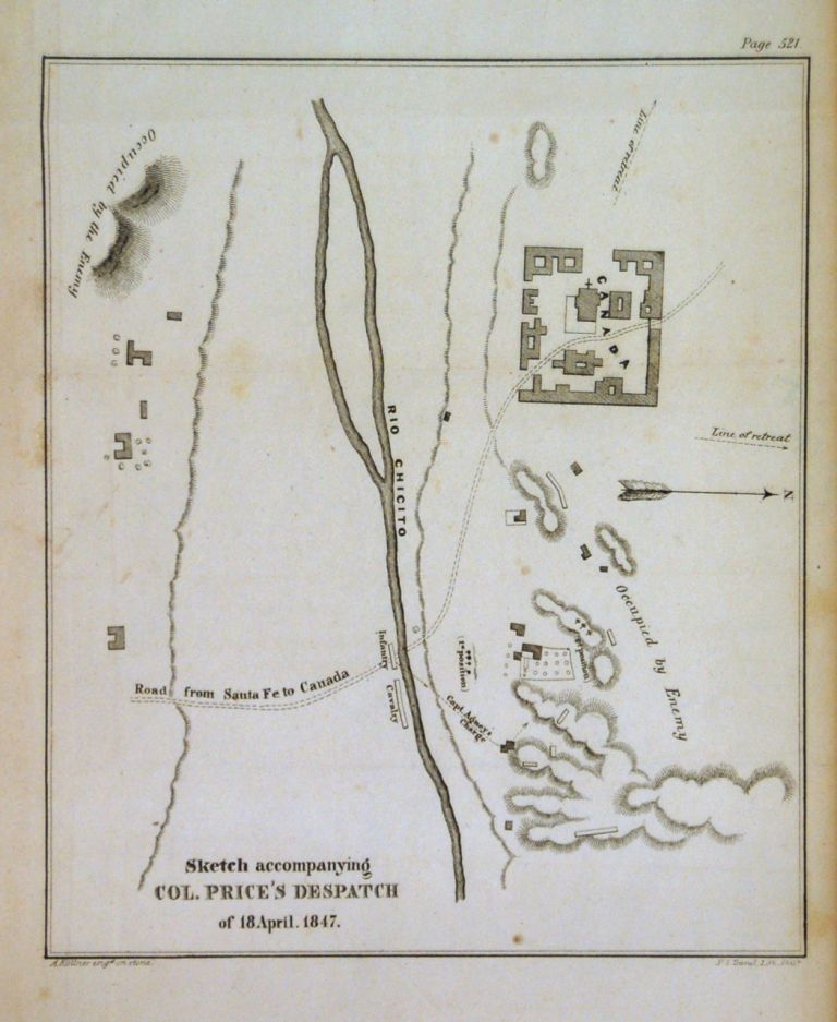 Sketch accompanying Col. Price's Despatch of 18 April. 1847. U S. Government.