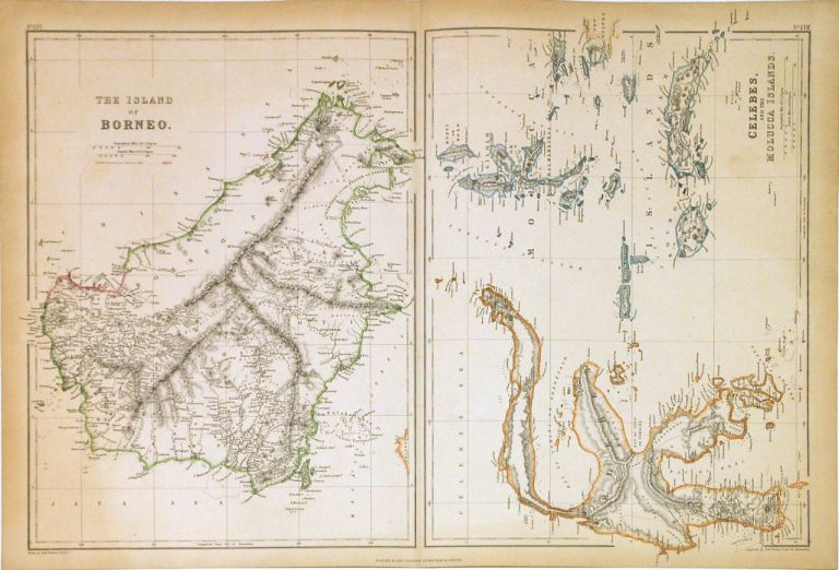 The Island of Borneo. Celebes, and the Molucca Islands. Edward WELLER.