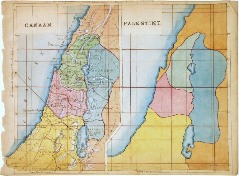 Canaan. Palestine by ANONYMOUS, Mcript map on Argosy Book Store on
