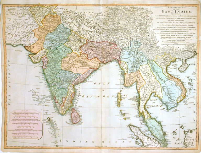 A New General Map of the East Indies Exhibiting in the Peninsula on the Side of the Ganges or Hindoostan. Thomas JEFFERYS.