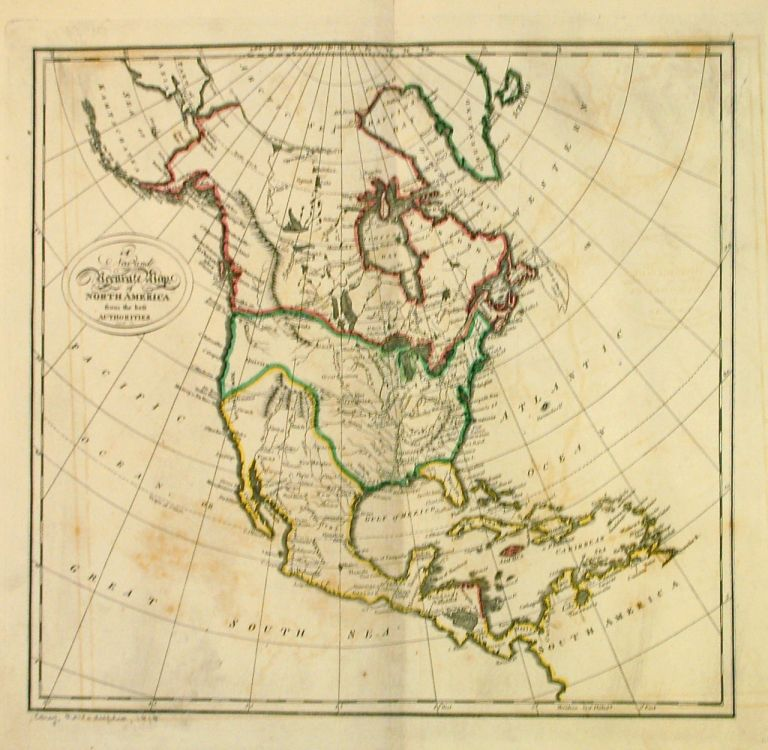 A New and Accurate Map of North America from the best Authorities. Mathew CAREY.