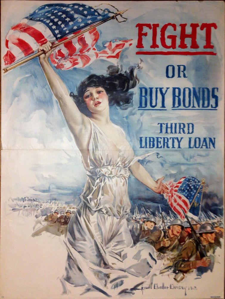 Fight or Buy Bonds. Third Liberty Loan. Howard Chandler CHRISTY.