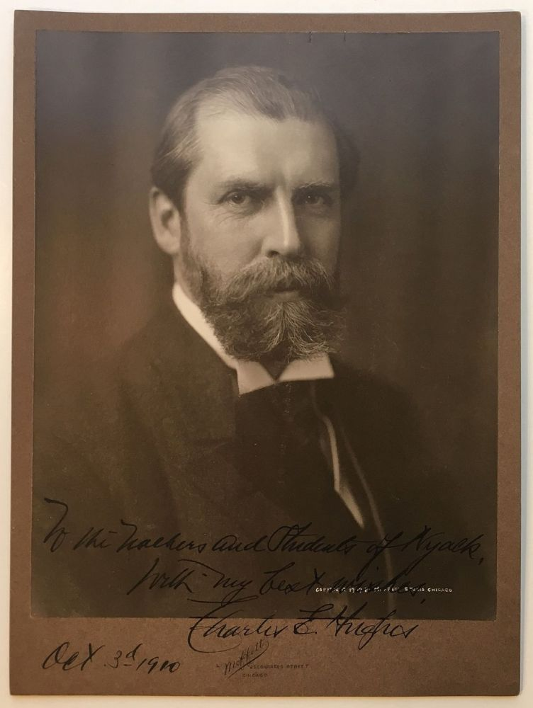 Superb inscribed photograph. Charles Evans HUGHES, 1862 - 1948.